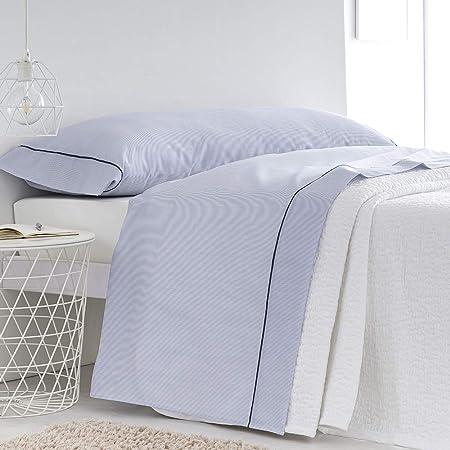 Barceló Hogar - Pack Sábana Encimera y Almohada Raya Oxford, Color Azul Marino, Cama 135 cm, 100 por 100 Algodón: Amazon.es: Hogar