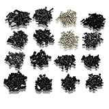 800pcs of 16 Unique Laptop Replacement Screws w/Screwdriver for IBM, Dell and More