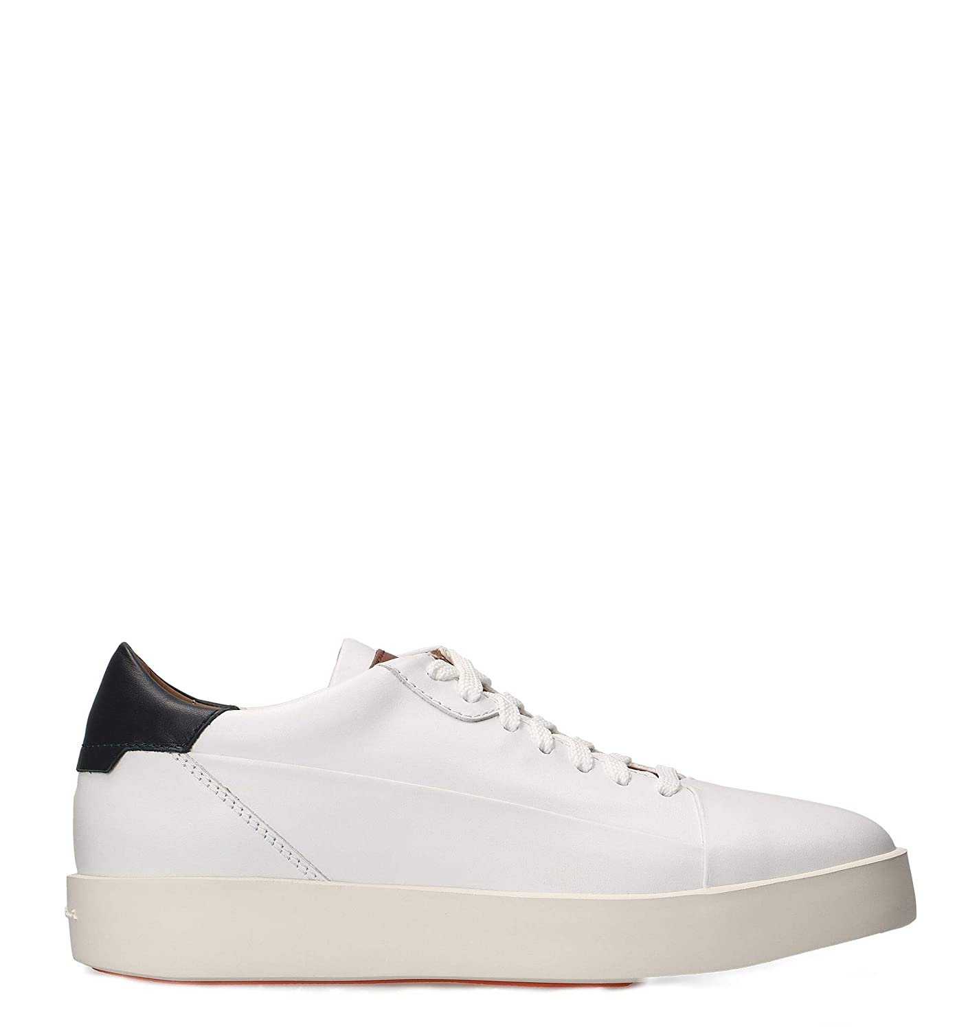 - Santoni Men's MBWI20892BIAITDEU60 White Leather Sneakers