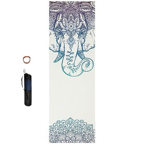 CHHBOX Estera de Yoga de Estilo Vintage/Estera de MeditacióN ...