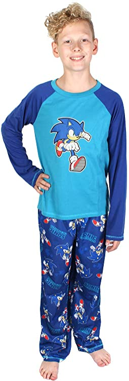 Sonic The Hedgehog Boys/' Pajamas 3 Piece Sleepwear Loungewear Pajama Set