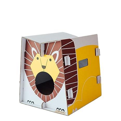THE CAT IN THE BOX - Rascador para Gatos y Casas de Juego, diseño Original