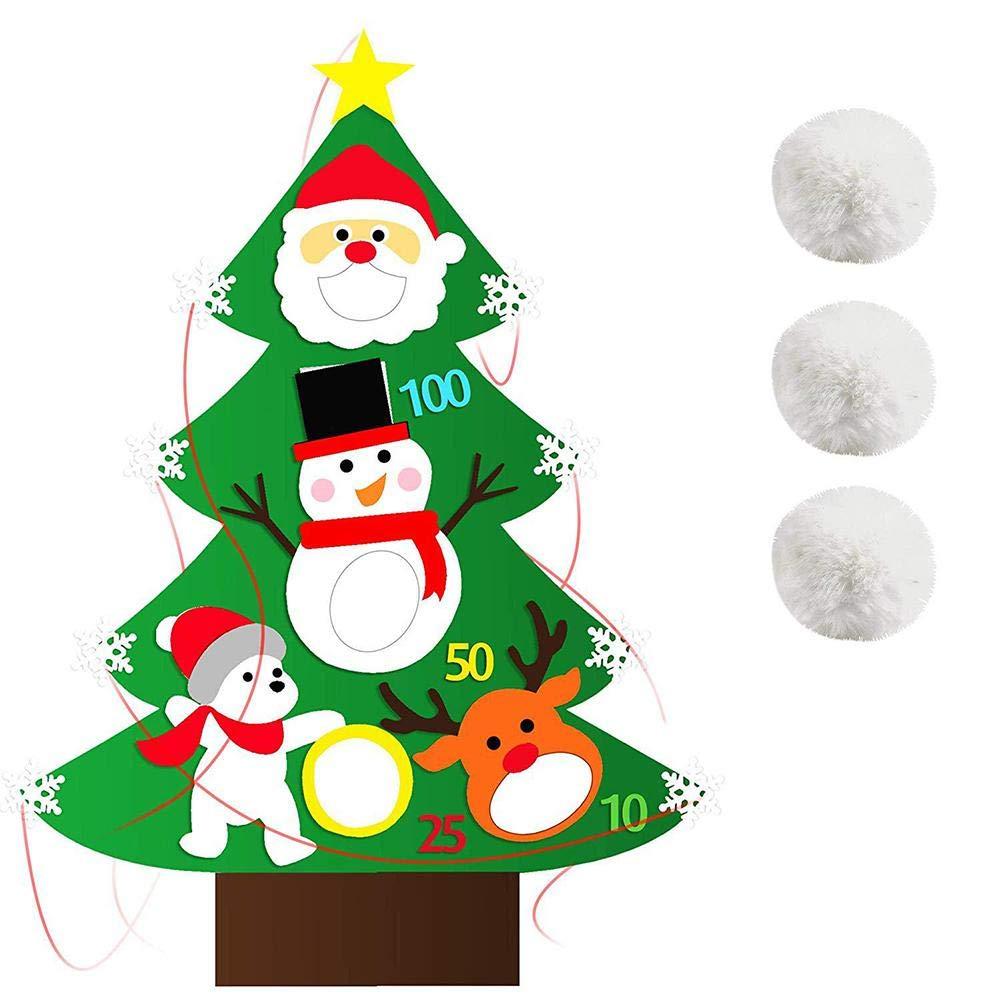 Sanmubo Felt Bean Bag Toss Games Merry Christmas Carnival Toss Games for Party Indoor Outdoor Throwing Games for Kids Christmas party Activities