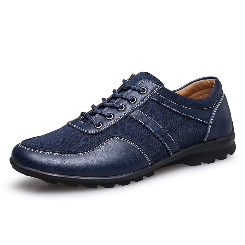 Qianliuk Herren Lederschuhe durchlä ssige Mesh-Flats-Schuhe