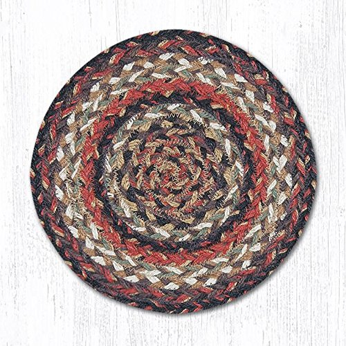Capitol Importing 46-990 Terracotta Miniature Swatch Round Rug44; 10 in. from Capitol Importing