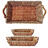 Oblong Maize and Willow Tray Group Of 2 (Set of 10)(20 Baskets)