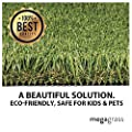 "MEGAGRASS 15 x 1 Ft MegaPlay PlatinumArtificial Grass for Kids Playground and Parks Outdoor Yard Runner Rug Carpet | 15 SqFt | 1.13"" Tall Blades 60 oz Face Weight"