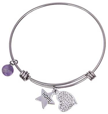 A Little Hope Bracelet in Silver 6qI0C