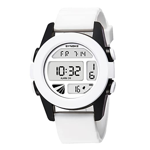 Reloj Deportivo Mujer Reloj Reloj Digital para Niñas Adolescente Blanco: Amazon.es: Relojes