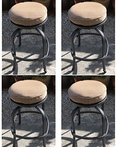 Patio bar stools set of 4 outdoor swivel barstools cast aluminum furniture Desert Bronze