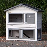 Animalhouseshop.de Kaninchenstall Regular Small mit Nageschutz White-Grey 101x51x101cm
