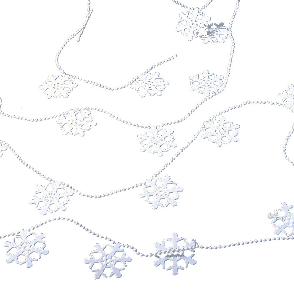 YaptheS Christmas Tree Snowflake Chain Ornaments Xmas Party Home Decoration
