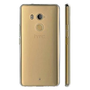 YUAN Funda para HTC U11 Plus Clear Transparente TPU Silicona ...