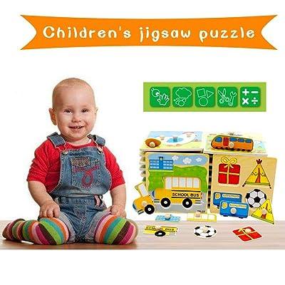 Jintes Juguete Educativo temprano del bebé del Rompecabezas de Madera Colorido de los niños Juguetes educativos: Ropa y accesorios