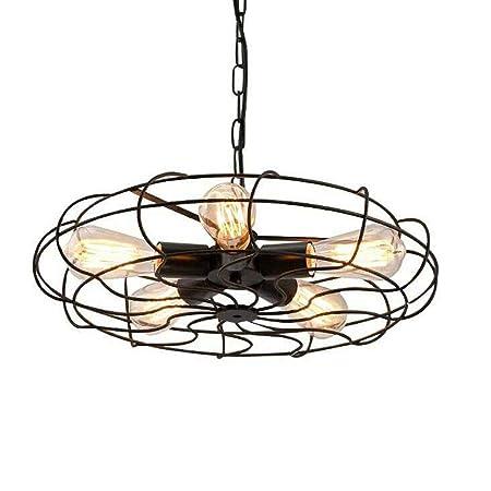 Lámpara de ventilador de 5 luces Lámpara de techo industrial ...