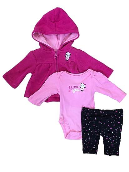 2c5a89df889e Amazon.com  Little Wonders Infant Girls Hot Pink Panda Bear Baby ...