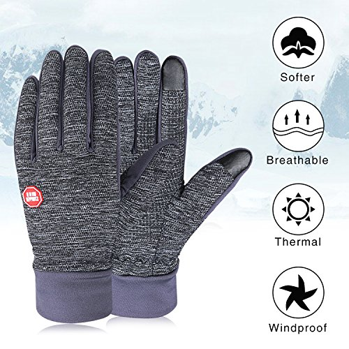 90/% Nylon 10/% Spandex Reinforced Blend Fits Men /& Women IGN1TE Compression Sports Running Gloves Cycling Lightweight Thermal Glove Liners Designed for Running Driving