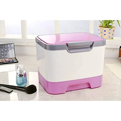 EYX Formula Plastic Portable Cosmetic Storage Box Case,Handle Medicine Box Desktop Organize Box with Cover for Store