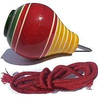 PE Padmavathi Enterprises® - Wooden Spinning Tops Lattoo with String - 1 Top