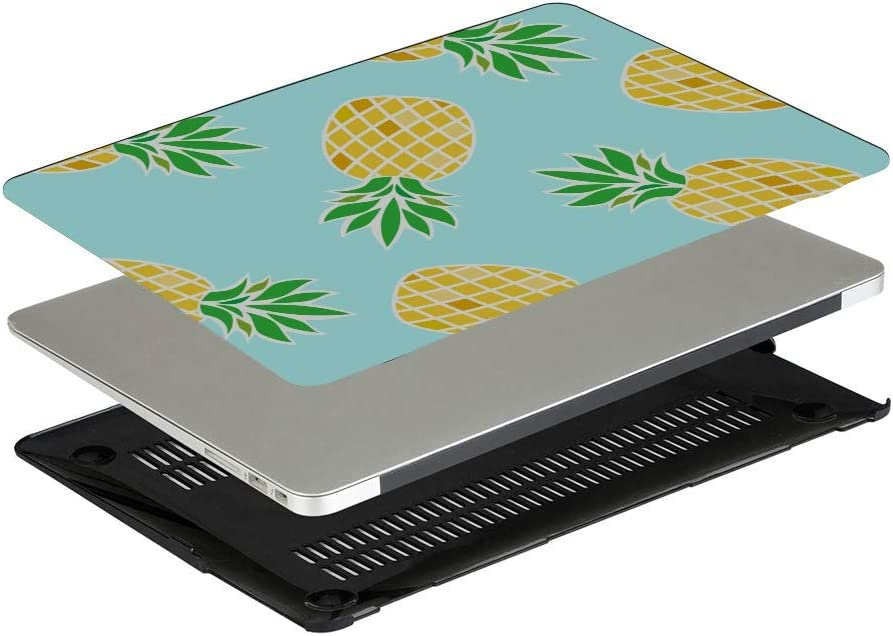 MacBook Pro 2016 Case Summer Fashion Cute Fruit Pineapple Plastic Hard Shell Compatible Mac Air 11 Pro 13 15 MacBook Air Case 2018 Protection for MacBook 2016-2019 Version