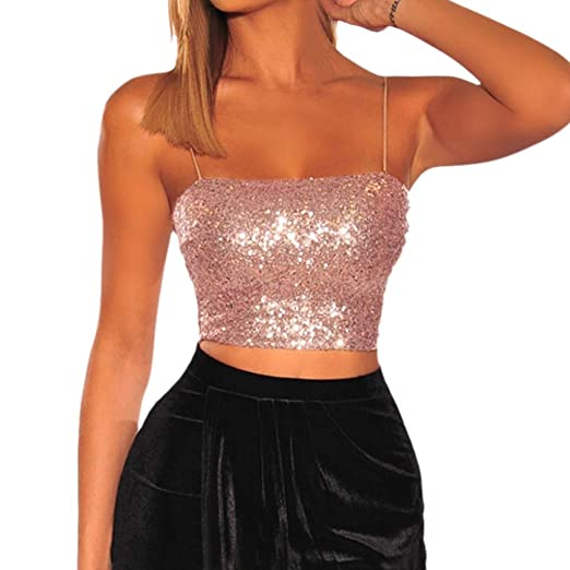 374476b821b91a Women Tank Tops Strapless Sleeveless Solid Color Basic Sexy Sling Off  Shoulder Crop Vests (XS