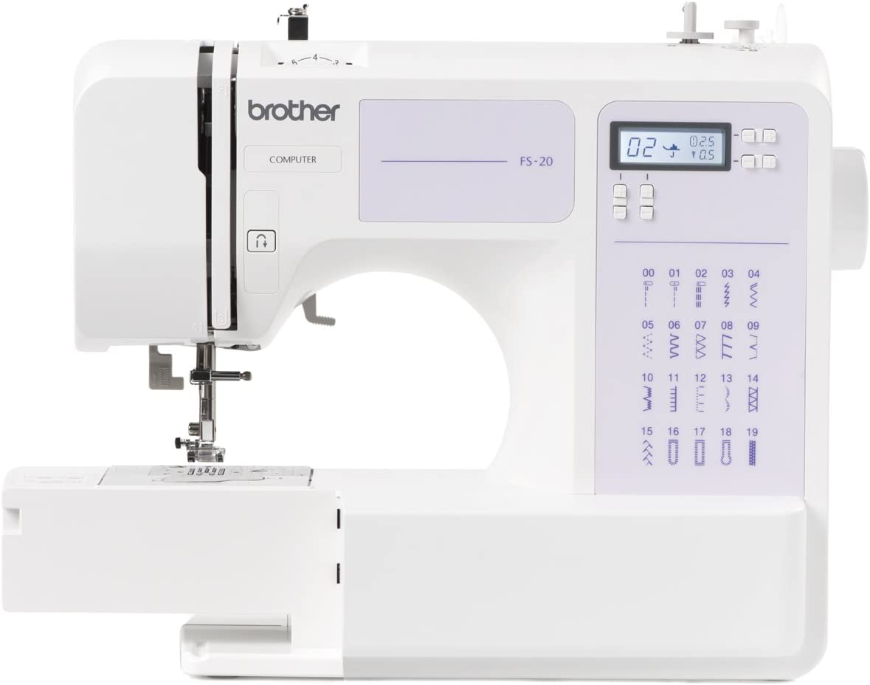 Máquina de coser Brother FS20, Electrónica, 32 funciones de ...