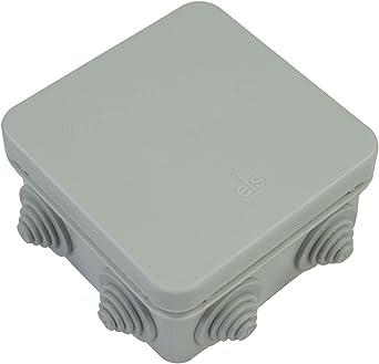 Caja de conexiones IP55 Caja de terminales en gris HP80 CCTV eléctrico externo ELS: Amazon.es: Iluminación