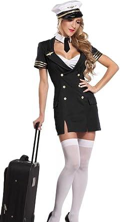 4022785f37e Amazon.com: Sexy Pilot Costume - First Class Captain Costume ...
