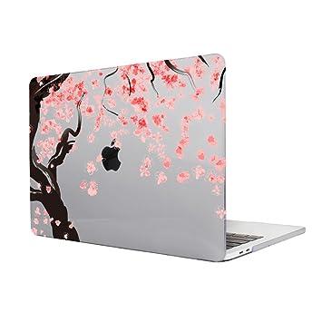TwoL Carcasa MacBook Pro 15 Retina,Flores de Cerezo Plástico Funda Dura para MacBook Pro 15 Retina (A1398) (Gris)