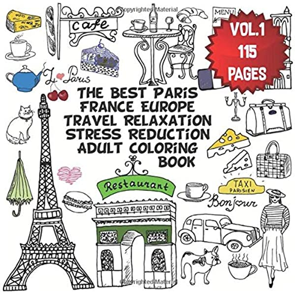 The Eiffel Tower Colouring Page | 600x600