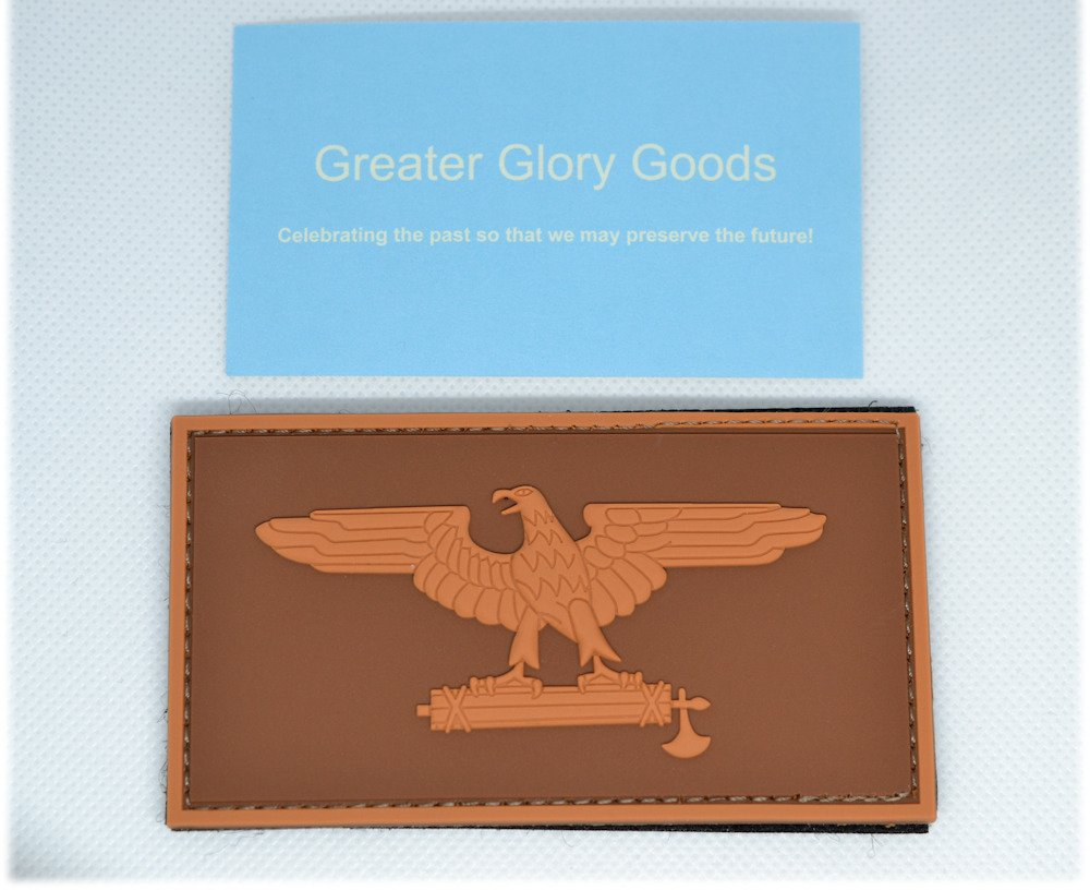 Greater Glory Goods Roman Eagle Tactical Patch with Velcro Hook /& Loop design