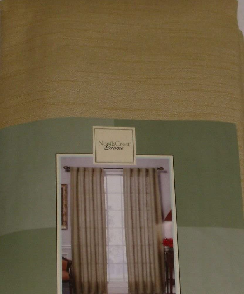 NorthCrest Home Gold Ricepaper Window Panel Back Tabs 84