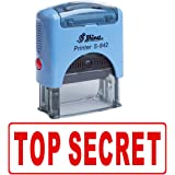 TOP SECRET Self Inking Rubber Stamp Custom Shiny Office Stationary Stamp