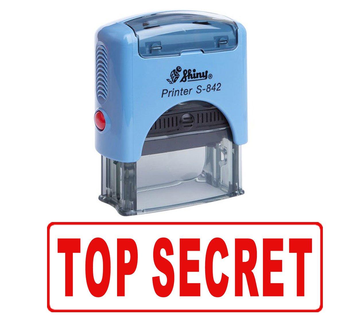 Printtoo TOP SECRET timbro di gomma timbro dellufficio inchiostrazione personalizzato lucido stazionario