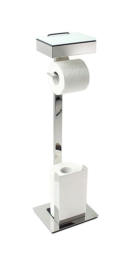 Schönbeck Design Caja para toallitas húmedas/rollo soporte acero inoxidable brillante de combinación – Fabricado