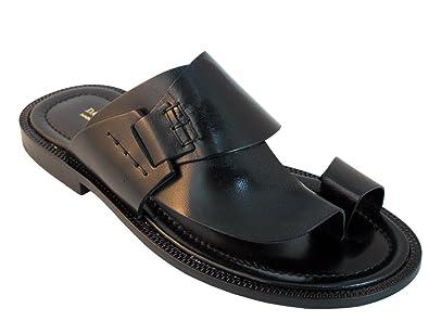 5e24ca30ffc7 DaVinci Men s Italian Leather Push Toe Sandals 1099 (39 EU 6 US