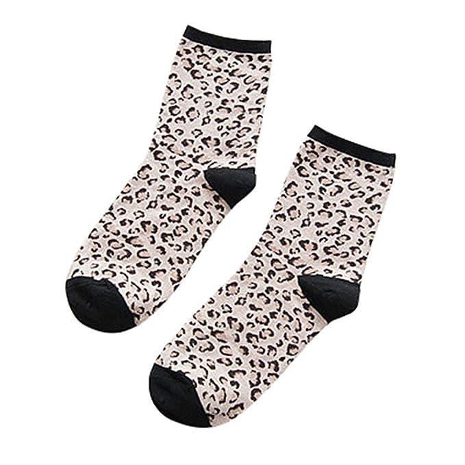 2019 Descuento Calcetines Ciclismo Hombres Mujer Damas Invierno Cálido Leopardo Imprimir Calcetines Casual Algodón Retro Calcetines Stocke: Amazon.es: Ropa ...