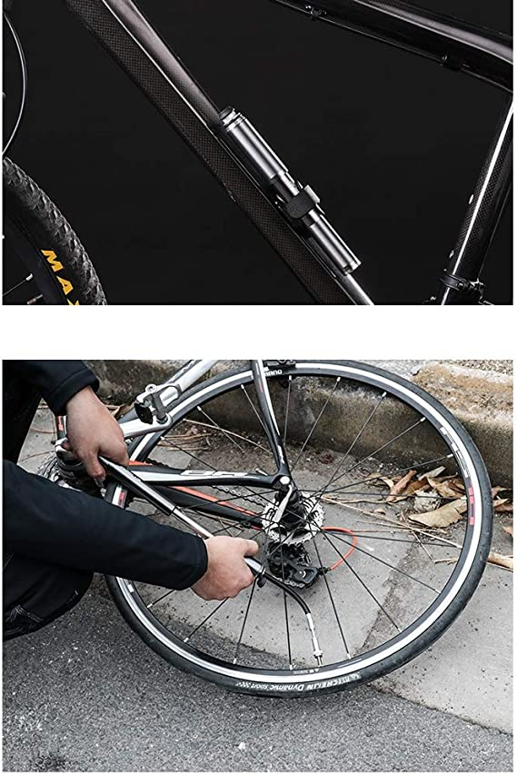HJUN Bomba de Bicicleta compacta Mini Bomba de Bicicleta Boquilla ...