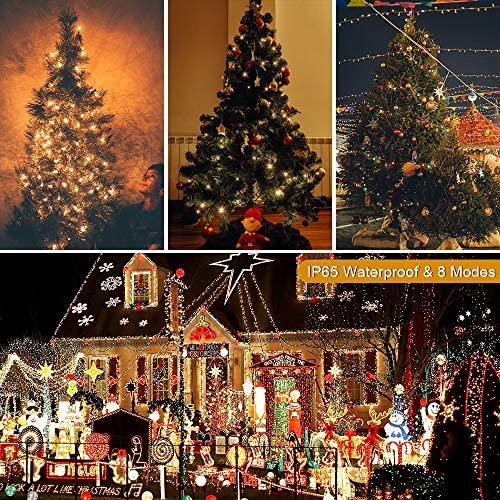P/úrpura 2021 New Fiestas etc Festivales 100LED Luz Decorativa de 33pies para Navidad Guirnalda Luces Exterior Solar ORIA Cadena de Luces con 8 Modos de Iluminaci/ón Bodas Patio Jardines