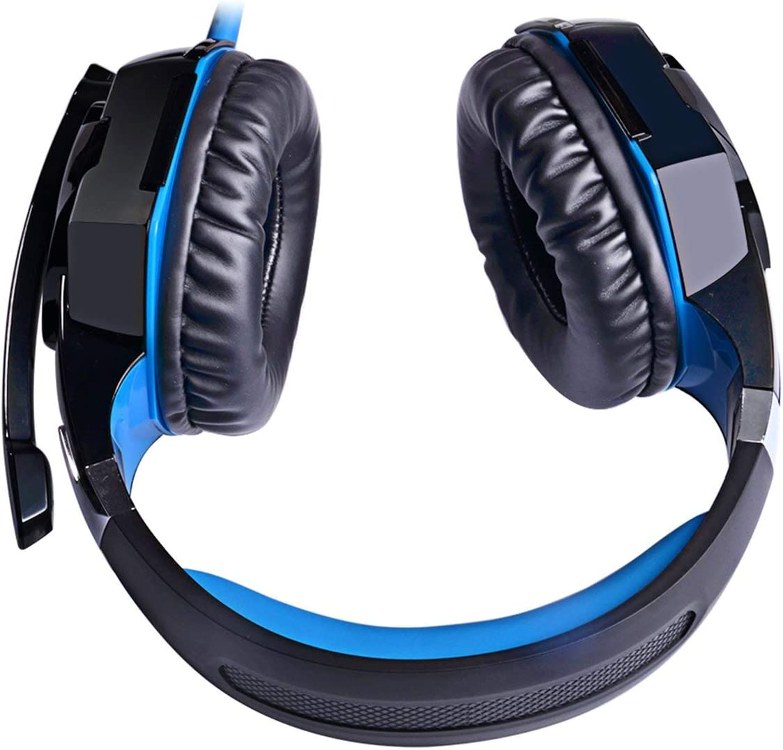 creatYspace KOTION Each Stereo Gaming Headset for Xbox One PS4 PC Surround Sound Over-Ear Headphones with Noise Cancelling Mic LED Lights