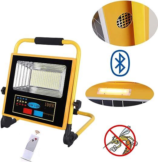 Proyector Led de 100w Con Panel Solar, Lámpara de Mosquito Y ...