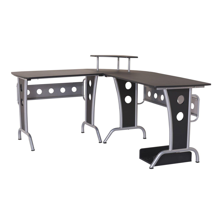 HOMCOM Corner Computer PC Desk Home Office Study Table Furniture Writing Workstation Black Sold by MHSTAR