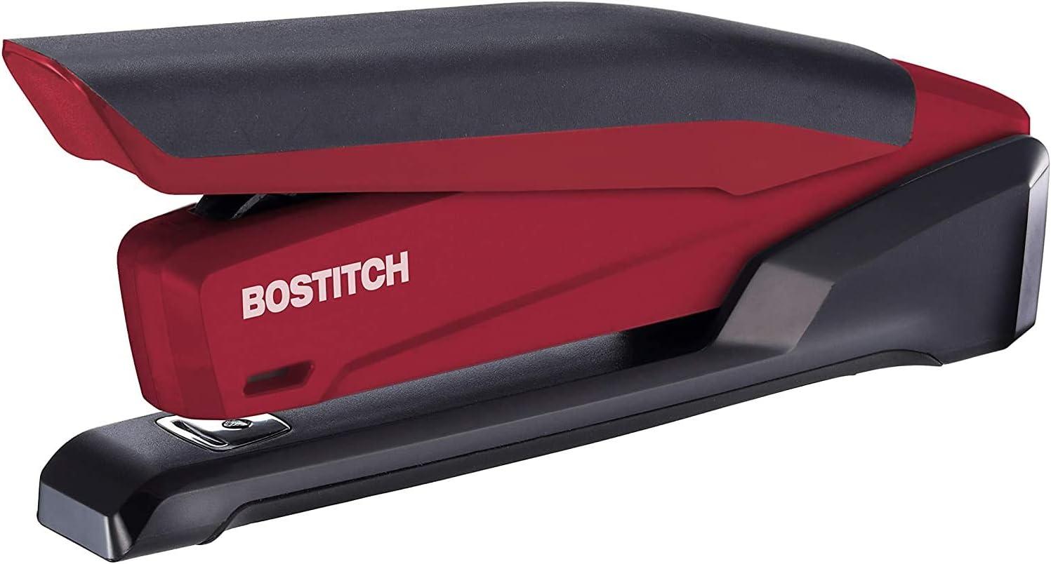 1 Pack Red Spring Powered Desktop Stapler
