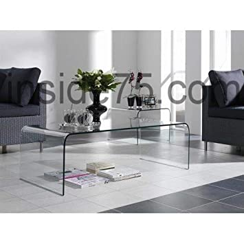Inside Bridge Table Basse En Verre Transparent Design