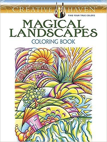 Amazon.com: Creative Haven Magical Landscapes Coloring Book (Adult ...