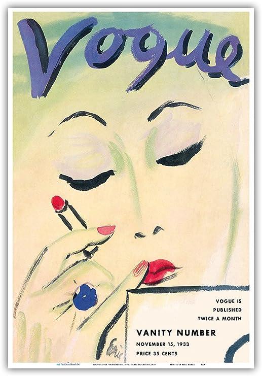Vintage Print Paper Poster Canvas painting Art by Vogue black white fashion