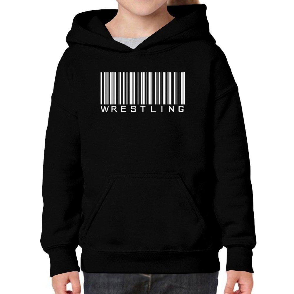 Teeburon Wrestling barcode Girl Hoodie by Teeburon