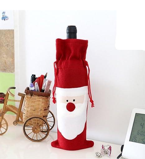 Amazon.com: blugibedramsh Santa Claus Navidad Rojo Bolsas ...