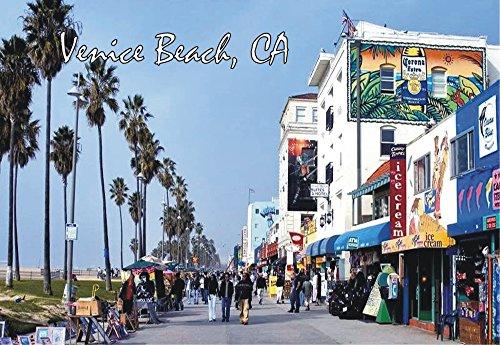Venice Beach, Boardwalk, California, CA, Magnet 2 x 3 Photo Fridge - Shops Boardwalk Venice Beach