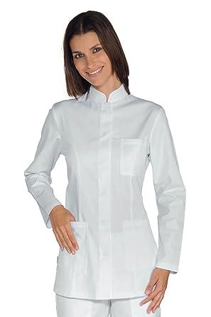Isacco Bianco Bottoni a pressione XL Bianco 65/% Poliestere 35/% Cotone Manica Lunga Isacco Camice Uomo